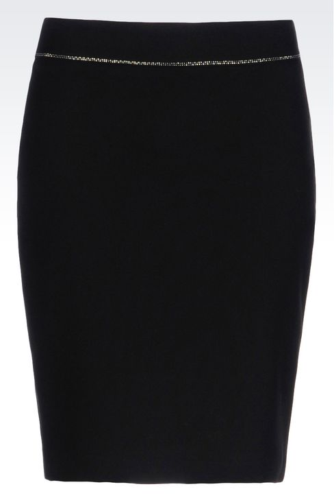 PENCIL SKIRT IN TECHNICAL VISCOSE: Knee length skirts Women by Armani - 1