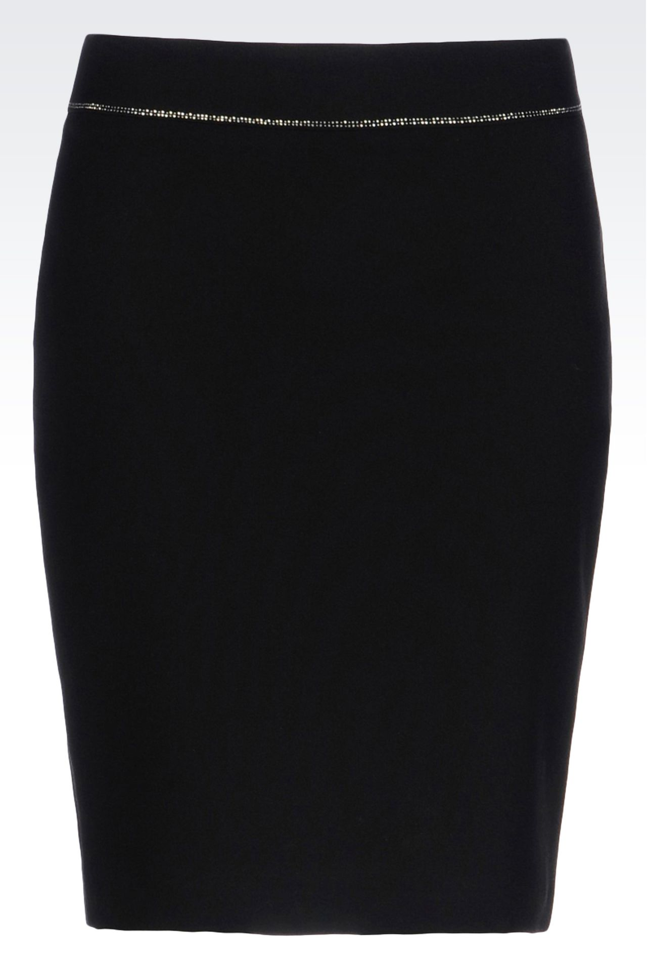 PENCIL SKIRT IN TECHNICAL VISCOSE: Knee length skirts Women by Armani - 0