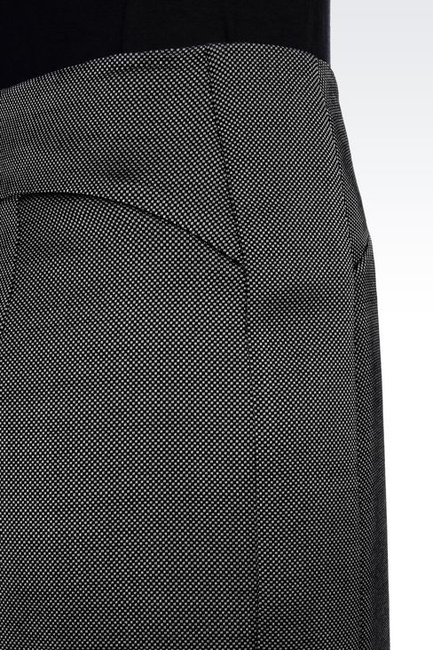 PENCIL SKIRT IN WOOL BLEND: Knee length skirts Women by Armani - 5