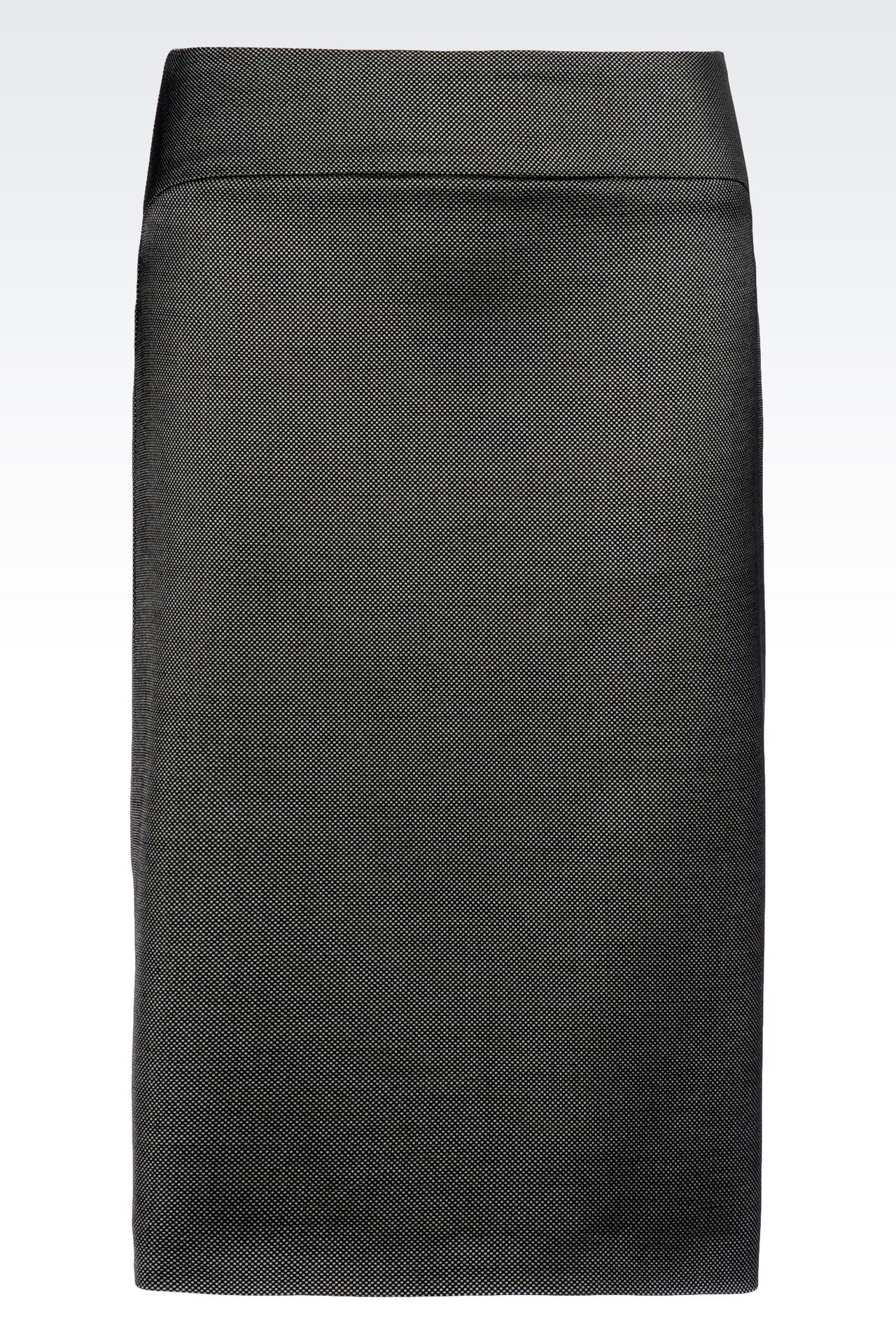 PENCIL SKIRT IN WOOL BLEND: Knee length skirts Women by Armani - 0