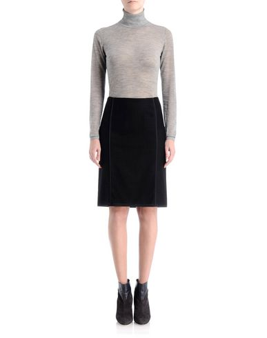 Punched Wool Pencil Skirt