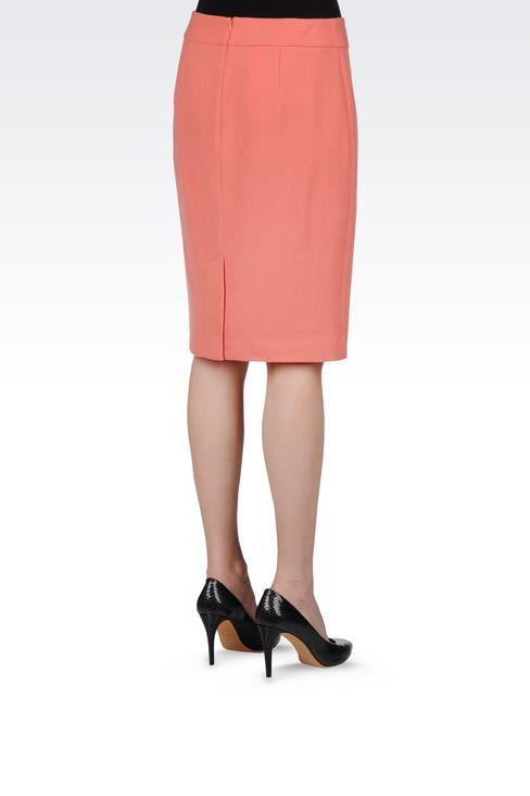PENCIL SKIRT IN WOOL CRÊPE: Knee length skirts Women by Armani - 3