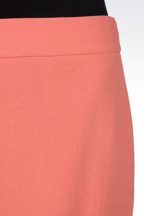 PENCIL SKIRT IN WOOL CRÊPE: Knee length skirts Women by Armani - 4