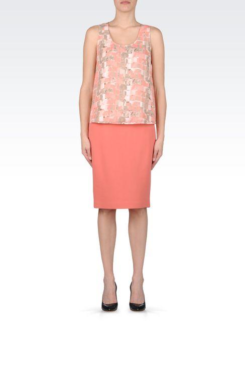PENCIL SKIRT IN WOOL CRÊPE: Knee length skirts Women by Armani - 2