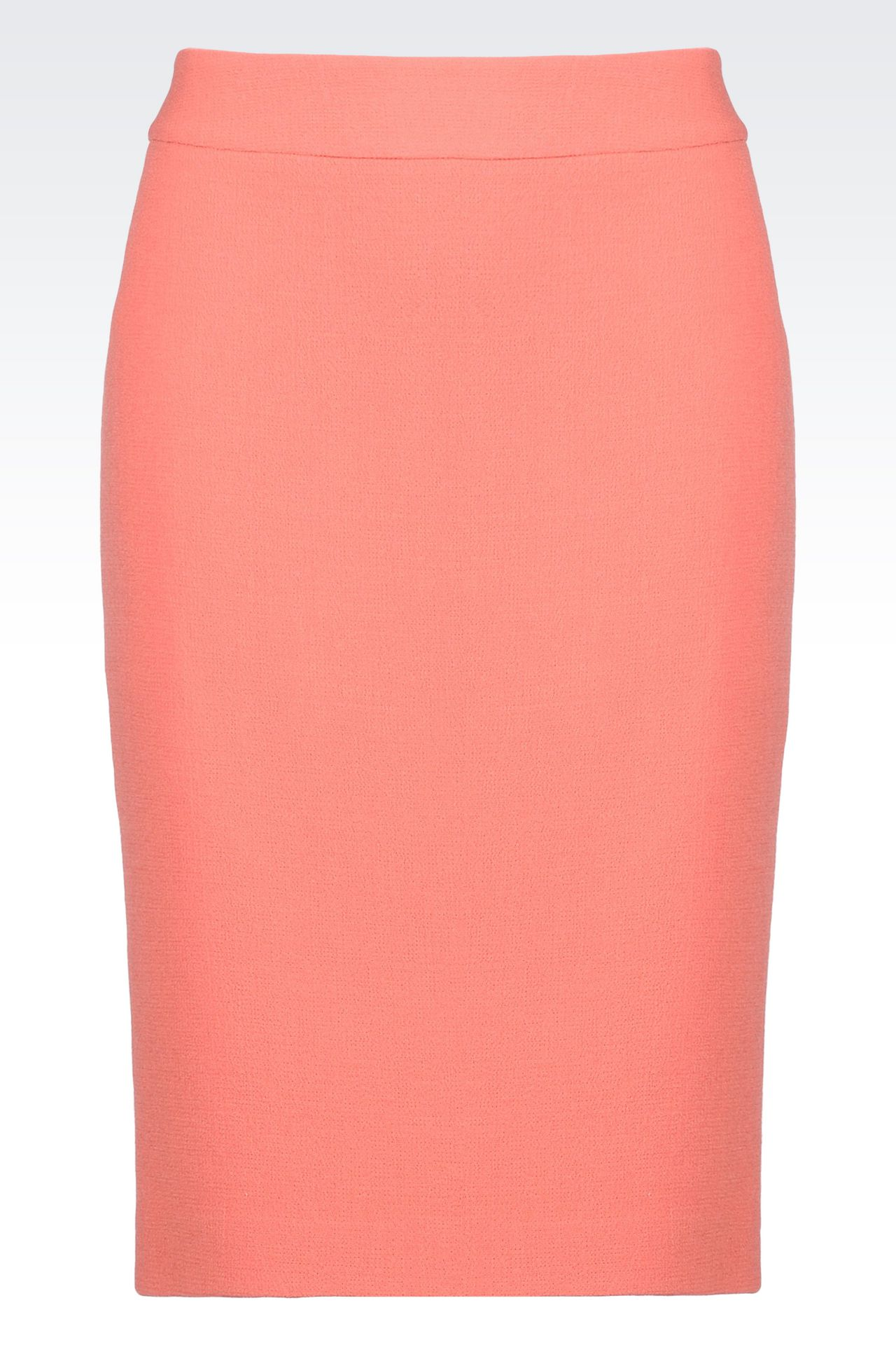 PENCIL SKIRT IN WOOL CRÊPE: Knee length skirts Women by Armani - 0