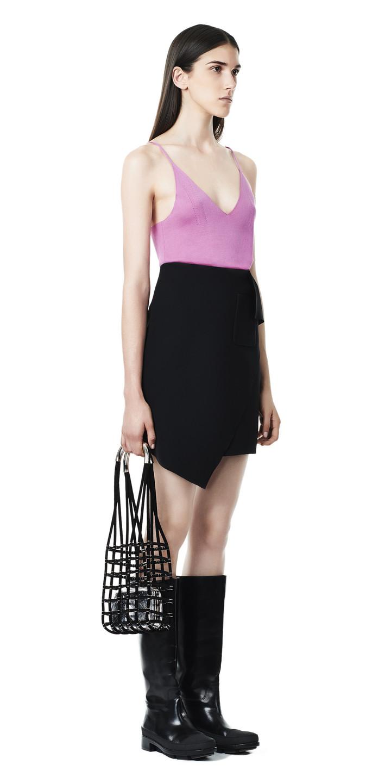 Balenciaga Overlap Midi Skirt