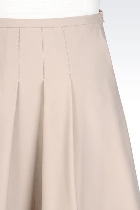 SKIRT IN STRETCH COTTON: 3/4 length skirts Women by Armani - 5