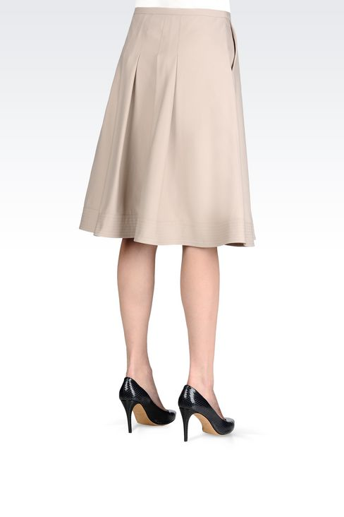 SKIRT IN STRETCH COTTON: 3/4 length skirts Women by Armani - 4