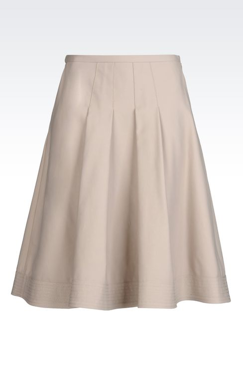 SKIRT IN STRETCH COTTON: 3/4 length skirts Women by Armani - 1
