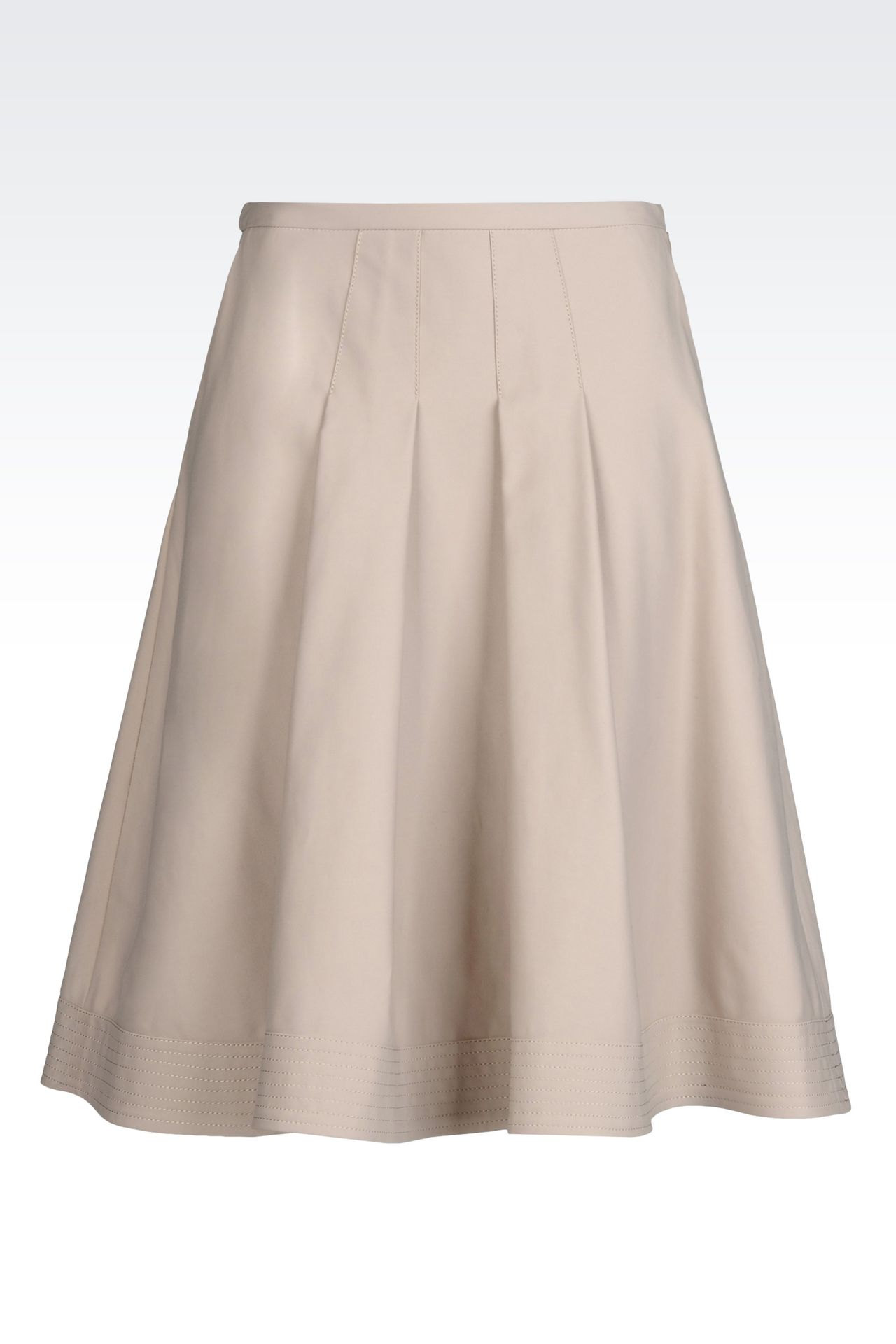 SKIRT IN STRETCH COTTON: 3/4 length skirts Women by Armani - 0