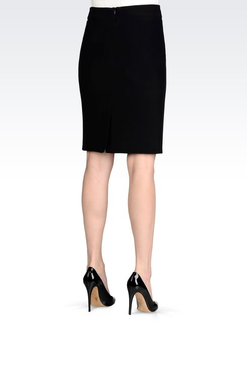 PENCIL SKIRT IN CADY: Knee length skirts Women by Armani - 4