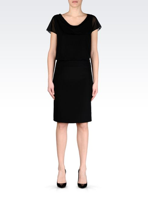 PENCIL SKIRT IN CADY: Knee length skirts Women by Armani - 2
