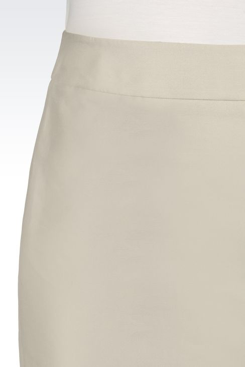 PENCIL SKIRT IN SILK BLEND: Knee length skirts Women by Armani - 4