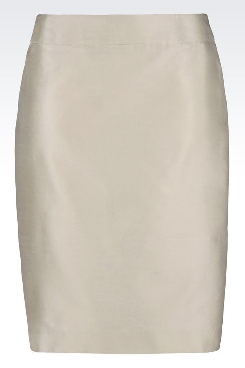 PENCIL SKIRT IN SILK BLEND: Knee length skirts Women by Armani - 1