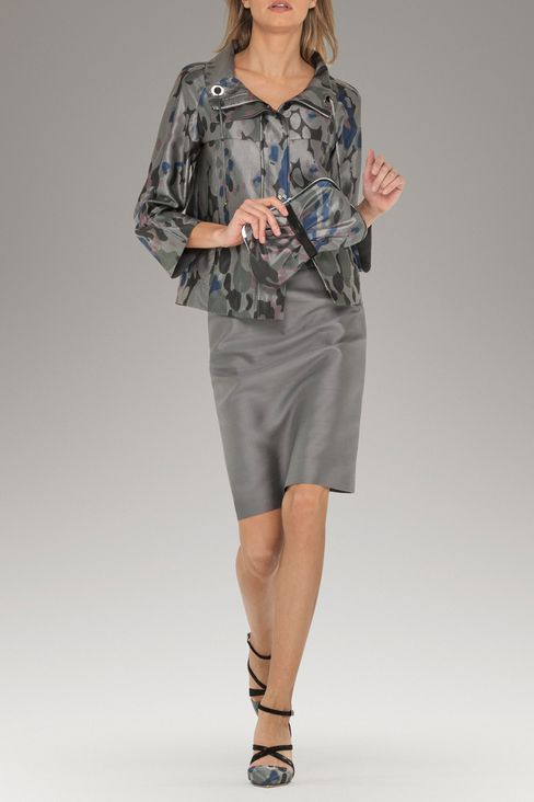 PENCIL SKIRT IN SILK BLEND: Knee length skirts Women by Armani - 2