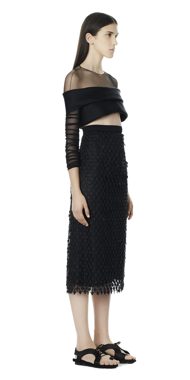 Balenciaga 3D Diamond Skirt