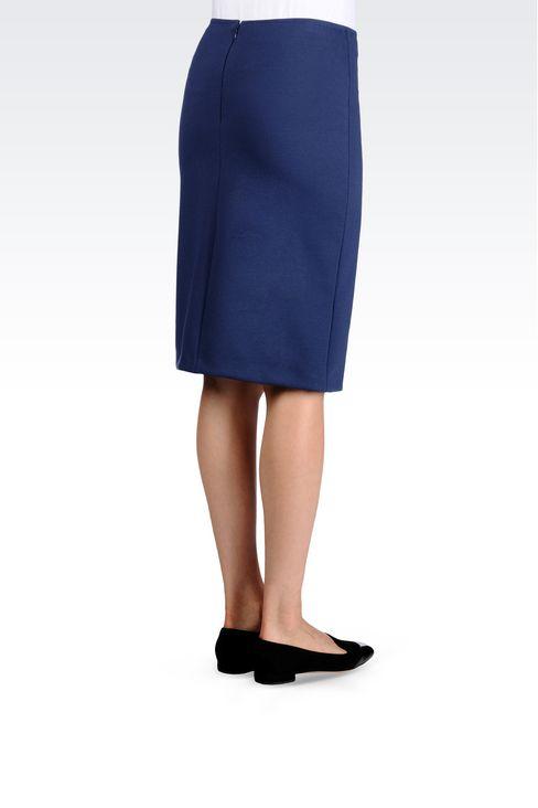 PENCIL SKIRT IN MILANO RIB: Knee length skirts Women by Armani - 3