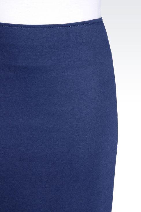 PENCIL SKIRT IN MILANO RIB: Knee length skirts Women by Armani - 4