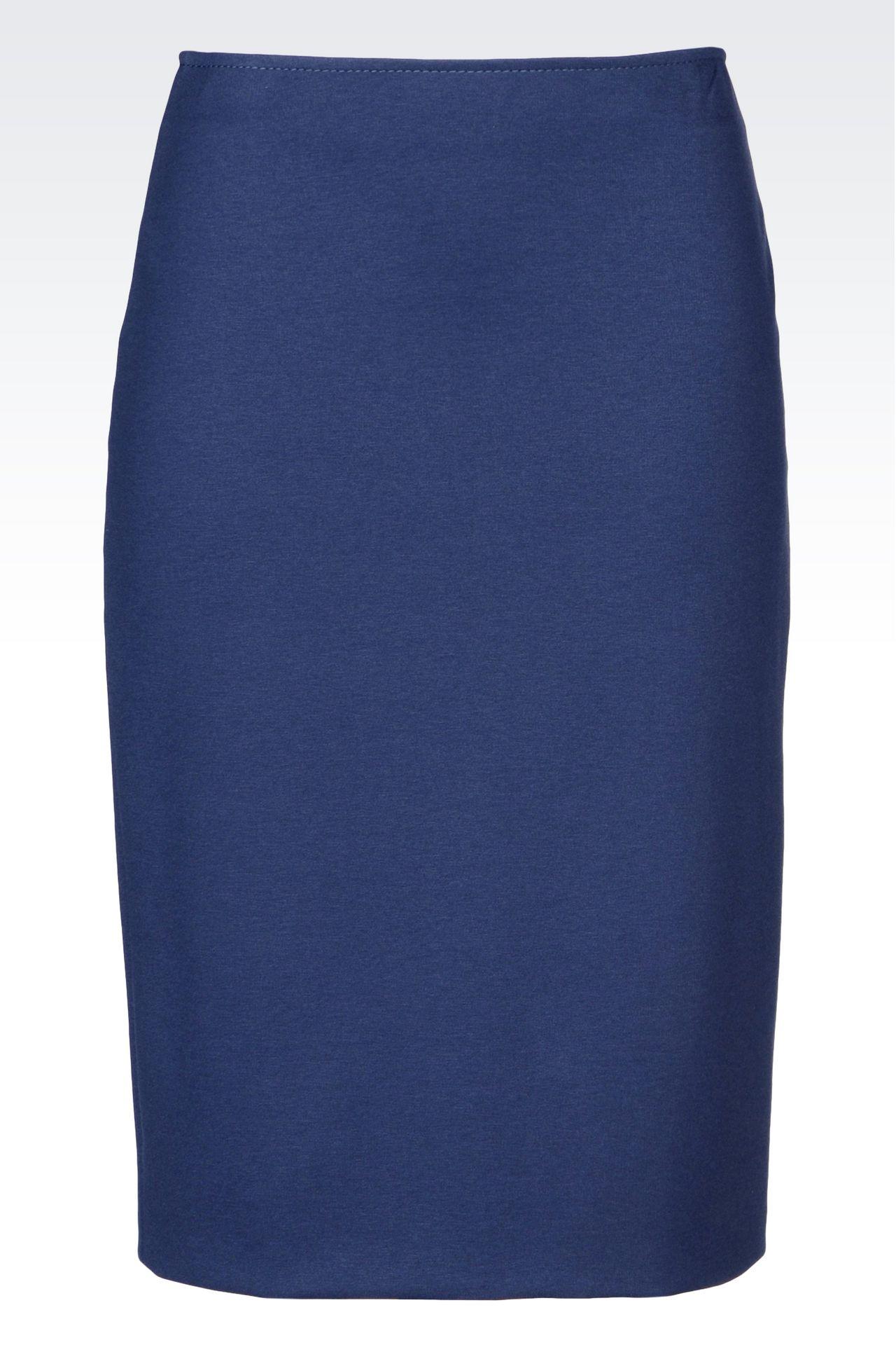 PENCIL SKIRT IN MILANO RIB: Knee length skirts Women by Armani - 0