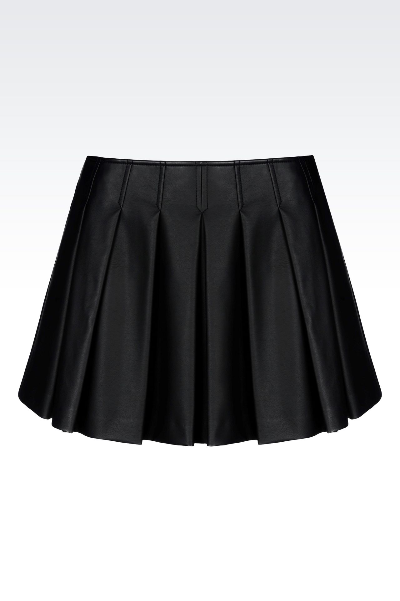 SKIRT IN FAUX LEATHER: Mini skirts Women by Armani - 0