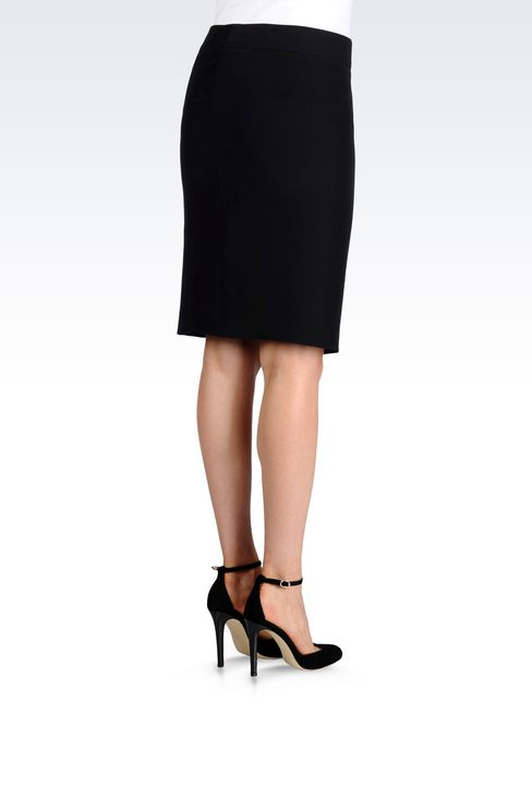 PENCIL SKIRT IN CADY: Mini skirts Women by Armani - 3