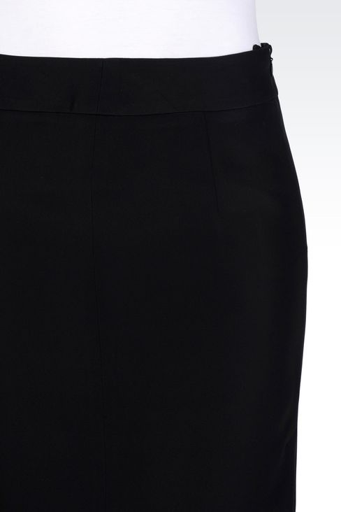 PENCIL SKIRT IN CADY: Mini skirts Women by Armani - 4