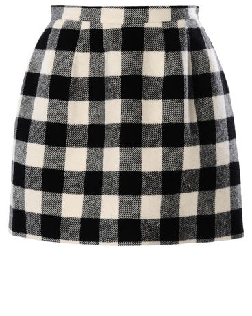 REDValentino Macro checkered wool skirt