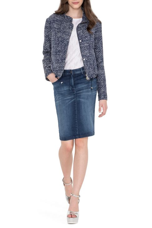 PENCIL SKIRT IN DENIM: Knee length skirts Women by Armani - 2