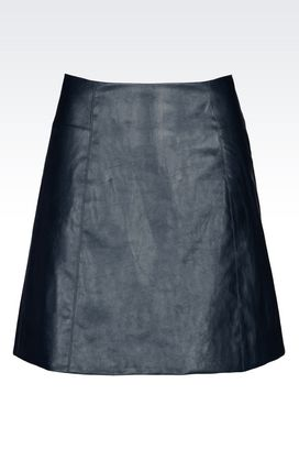 Armani Mini skirts Women skirt in faux leather