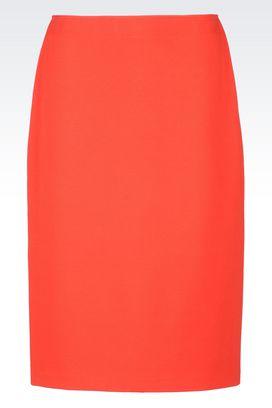 Armani Knee length skirts Women pencil skirt in milano rib