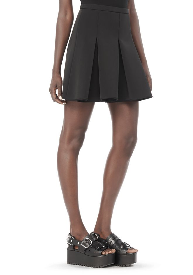 ALEXANDER WANG SKIRTS Women INVERTED PLEAT-FRONT MINI SKIRT