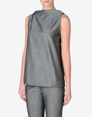 Maison Margiela Sleeveless virgin wool top