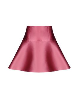 REDValentino Lace detail silk twill skirt