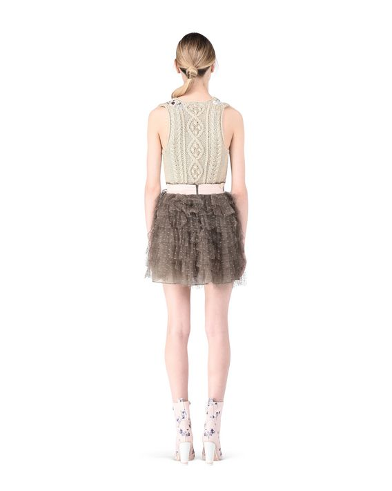 REDValentino Tiered tulle skirt