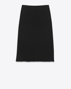 Mid-Length Fluid Skirt in Black Viscose