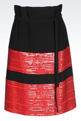 Armani Skirts Women skirt in cady with embroidery