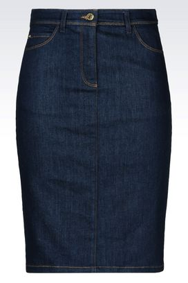 Armani Denim skirts Women denim skirt