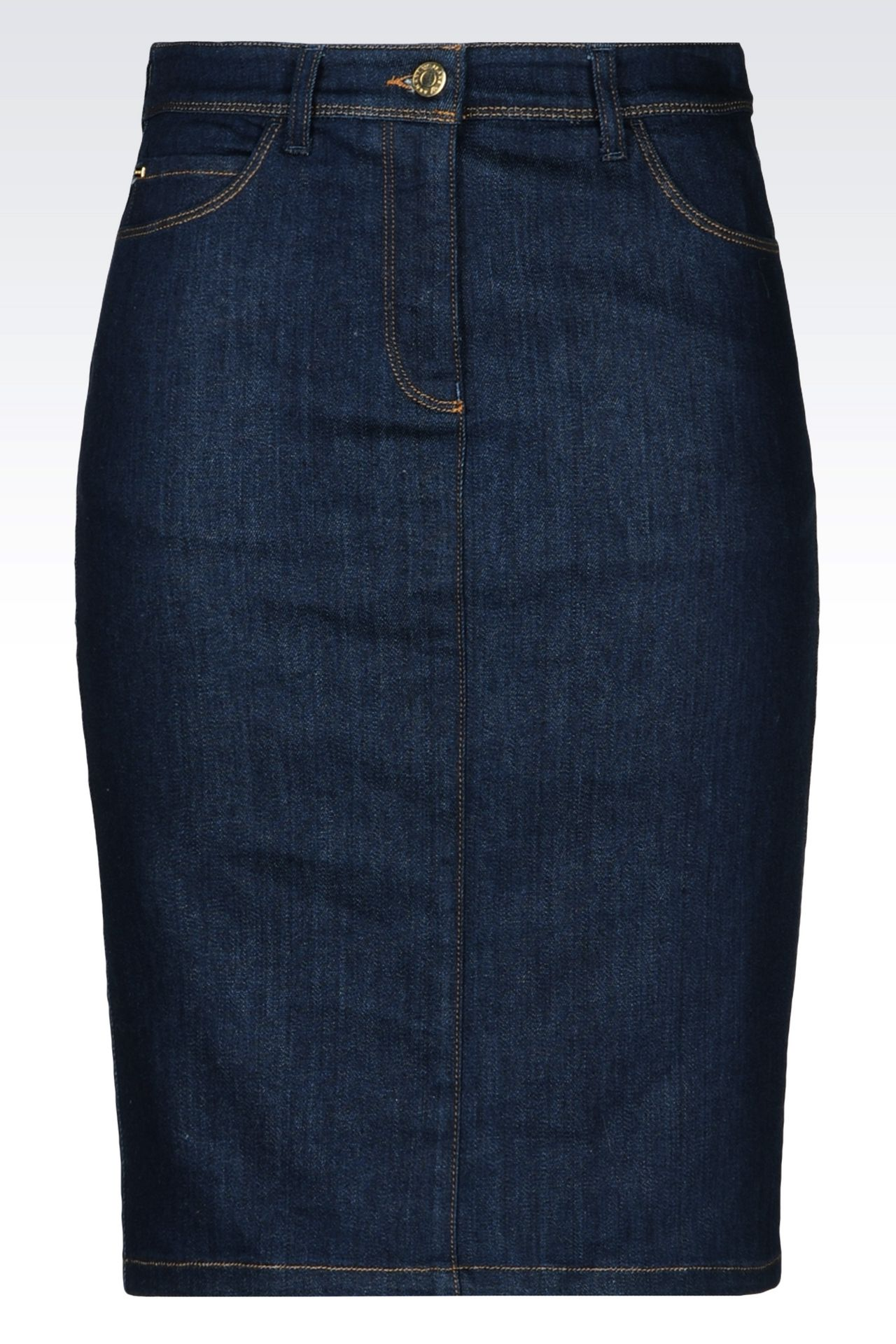 Armani Jeans Women DENIM SKIRT, Cotton - Armani.com