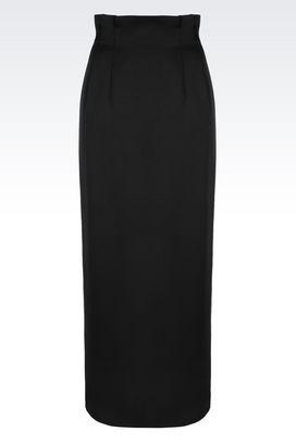 Armani Long skirts Women long skirt in envers satin