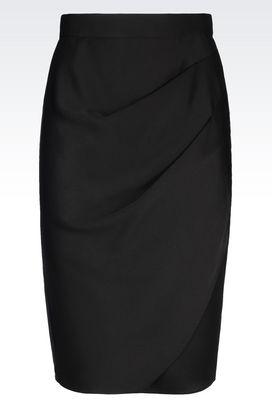 Armani 3/4 length skirts Women skirt in envers satin
