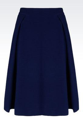 Armani Knee length skirts Women skirt in crêpe