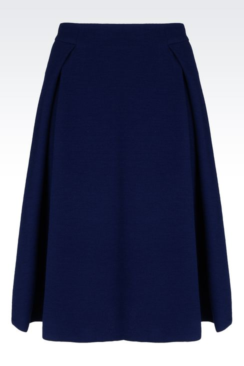 SKIRT IN CRÊPE: Knee length skirts Women by Armani - 1