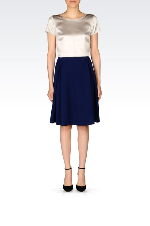 SKIRT IN CRÊPE: Knee length skirts Women by Armani - 2