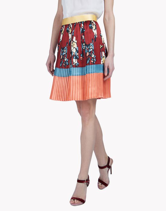 cherry blossom silk pleated skirt skirts Woman Dsquared2