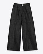 Gonna pantalone midi nera in pelle