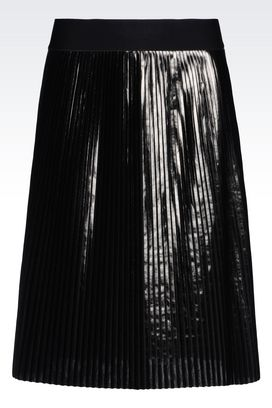 Armani Mini skirts Women plissé skirt laminated effect