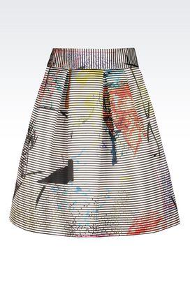 Armani Mini skirts Women skirt in striped duchesse