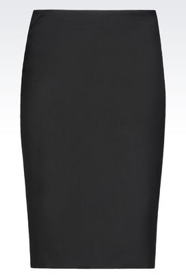 Armani Mini skirts Women sheath skirt in stretch wool