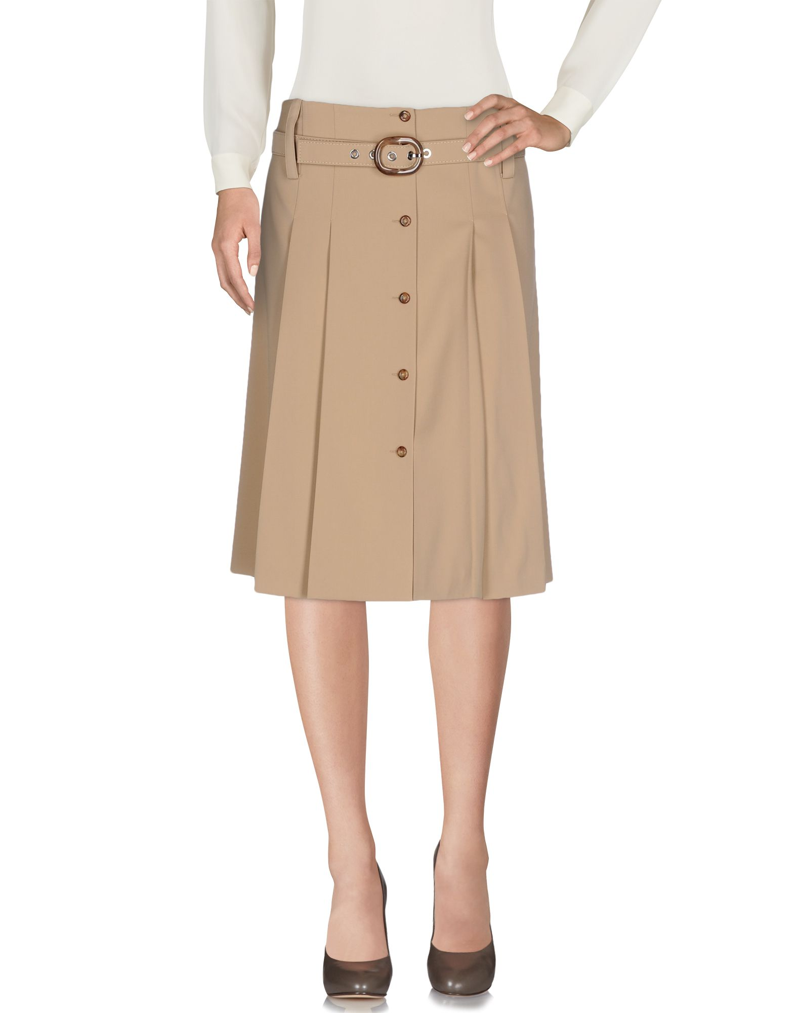 michael kors female  michael kors collection knee length skirts