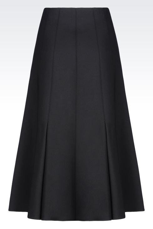 SKIRT IN SATIN: Skirts Women by Armani - 3